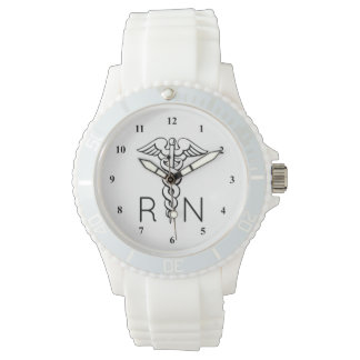 RN Registered Nurse Watch | Caduceus Symbol