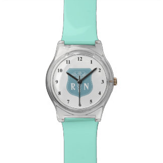 RN Registered Nurse watch with caduceus symbol