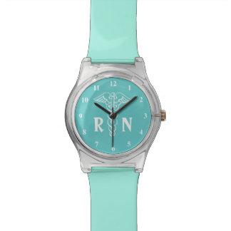 RN Registered Nurse watch with caduceus symbol