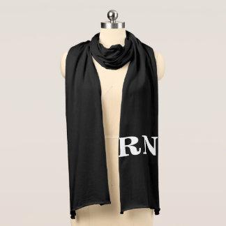 RN white on black scarf