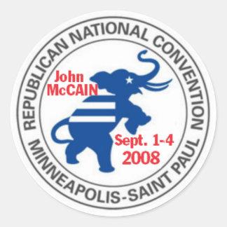RNC Convention McCAIN Sticker Republican