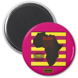 Rnd. Magnet Black Randy Idi Amin  Dangerhouse