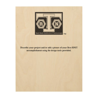 RNIT Wall Plaque - Customizable Wood Wall Art