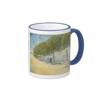 Road along the Seine near Asnieres, Van Gogh Coffee Mug