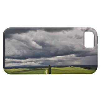 Road and storm clouds, rural Tuscany region, iPhone 5 Covers