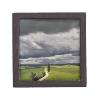 Road and storm clouds, rural Tuscany region, Premium Gift Box