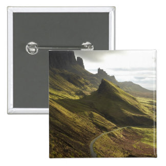 Road ascending The Quiraing, Isle of Skye, 2 Inch Square Button