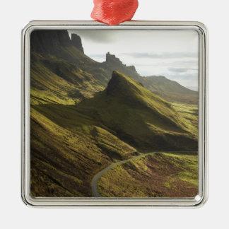 Road ascending The Quiraing, Isle of Skye, Metal Ornament