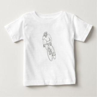 Road Bicycle Racing Doodle Baby T-Shirt