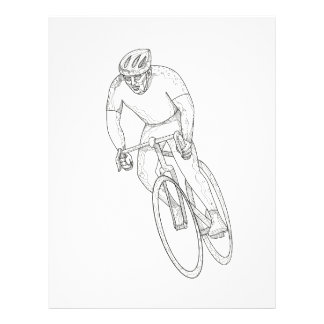 Road Bicycle Racing Doodle Letterhead