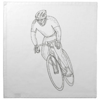 Road Bicycle Racing Doodle Napkin