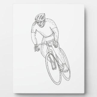 Road Bicycle Racing Doodle Plaque