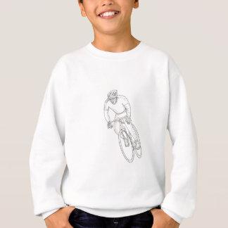 Road Bicycle Racing Doodle Sweatshirt