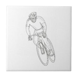Road Bicycle Racing Doodle Tile