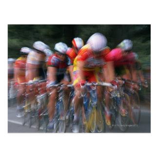 Road bicycle racing postcard