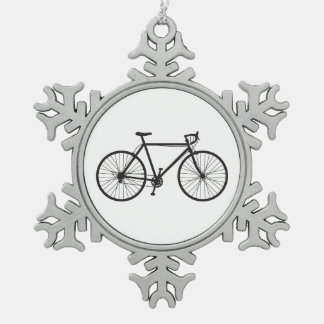 Road Bike, Bicycle, Snowflake Ornament