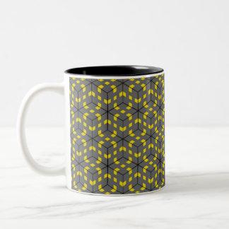 Road Blocks Two-Tone Coffee Mug