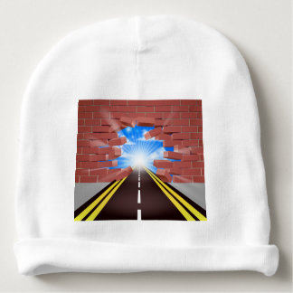 Road Breaking Through Wall Baby Beanie