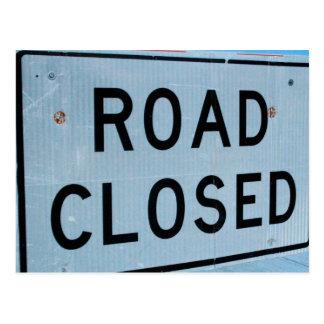 Road Closed Postcard