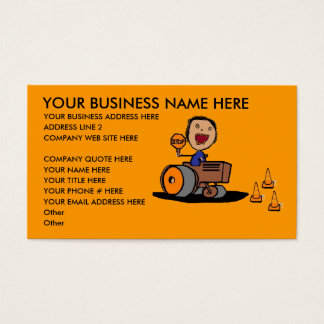 Road Construction Business Card