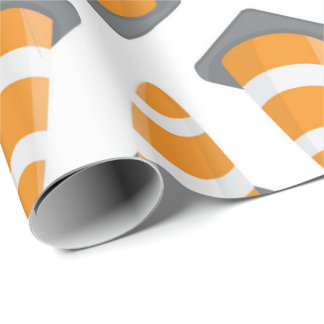 Road Construction cone pattern party paper