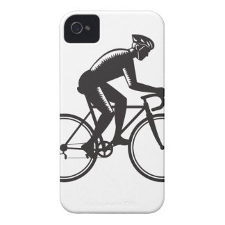 Road Cyclist Racing Woodcut Case-Mate iPhone 4 Case