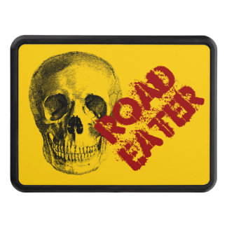 Road Eater Skeleton Skull Tow Hitch Cover