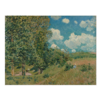 Road from Versailles to Saint-Germain by A. Sisley Postcard