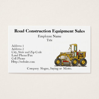 Road Grader Construction Business Cards
