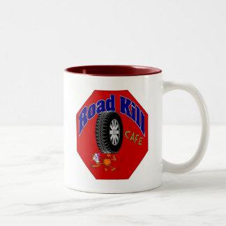 Road kill Cafe 2 Two-Tone Coffee Mug