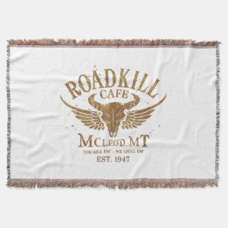 Road Kill Cafe - Mcleod, Montana Throw Blanket