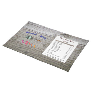 Road Kill Grill Placemats