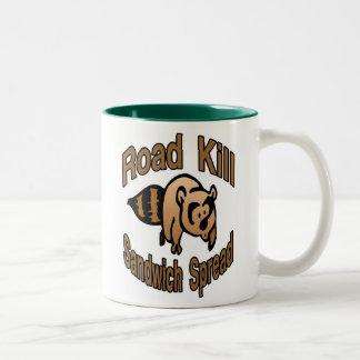 Road Kill Sandwich Spread Two-Tone Coffee Mug