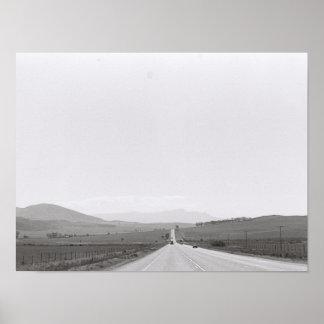 Road Landscape Kodak Film Image A3 Poster
