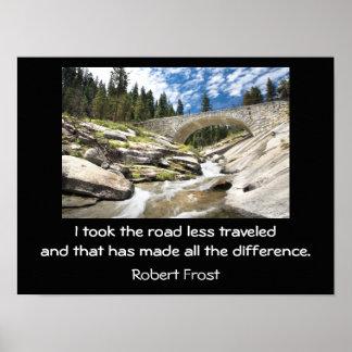 Road less traveled - art print
