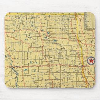 Road map N & S Dakota Mouse Pad