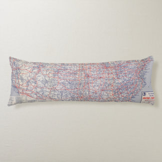 Road map United States Body Pillow