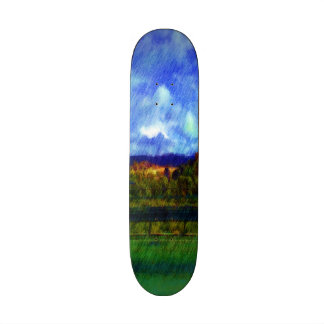 Road nature painting photo skateboards