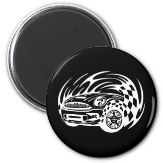 Road Racer 2 Inch Round Magnet