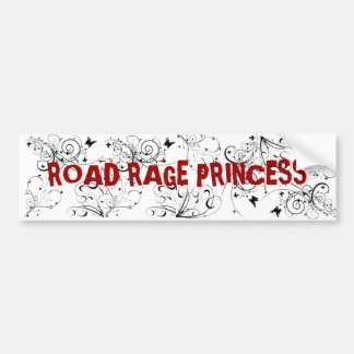 ROAD RAGE PRINCESS BUMPER STICKER