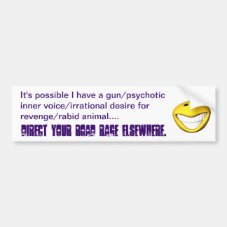 Road Rage Rethought Bumper Sticker