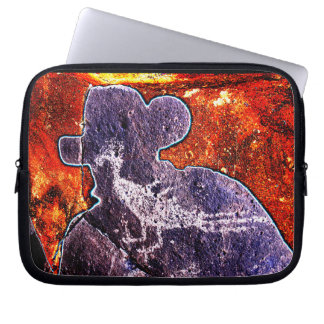 Road Runner Petroglyph and a New Mexican Laptop Sleeve