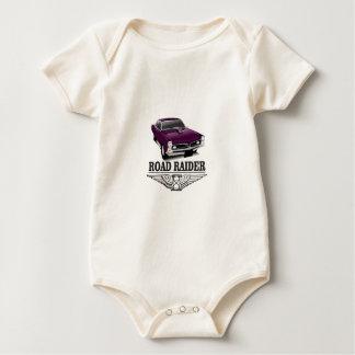 road runner purple baby bodysuit