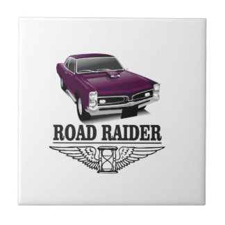 road runner purple ceramic tile