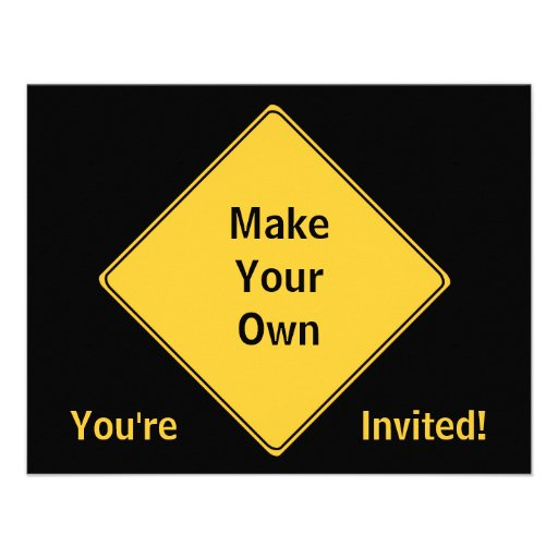 Road Sign- Make Your Own Invitation