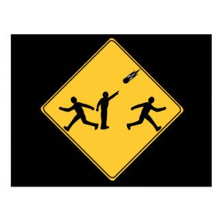 Road Sign- Meteor Postcard