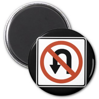 Road Sign - No U Turn Magnet