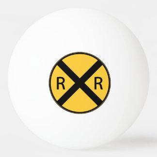 Road Sign Railroad Road Crossing Ping Pong Ball