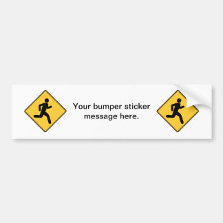Road Sign - Runner Bumper Sticker