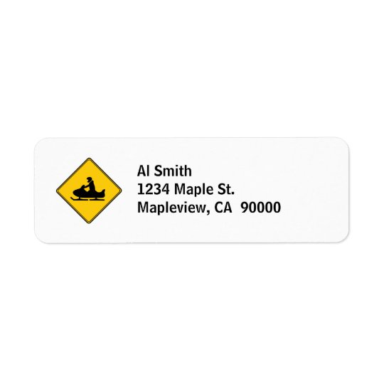 Road Sign- Snowmobile Return Address Label